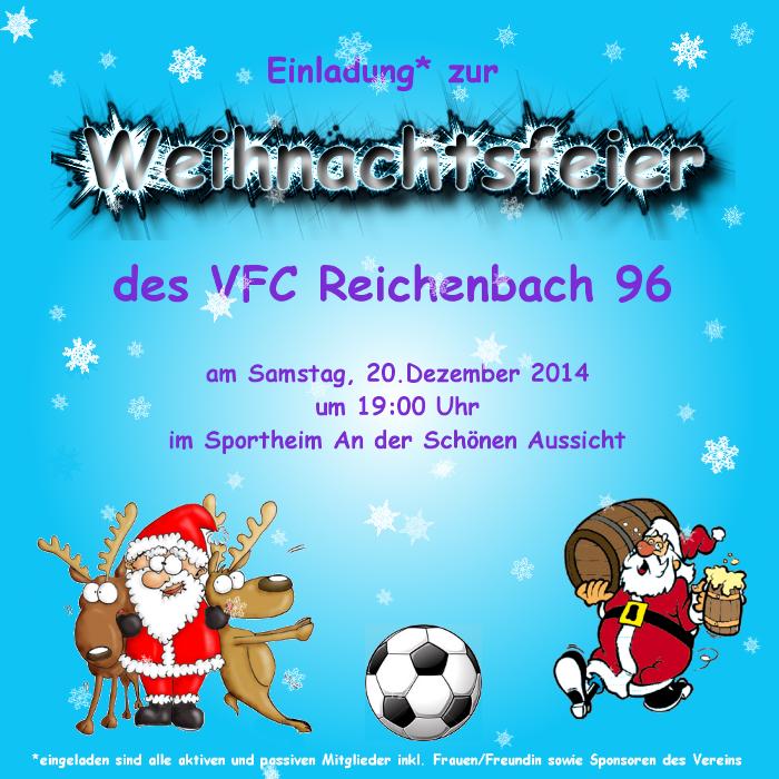 weihnachtsfeier 2014, Einladung